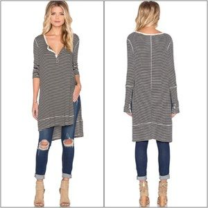 FREE PEOPLE ~ GWEN STRIPED HENLY TUNIC